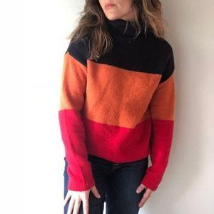 C&C California | mock neck sweater wool stripe